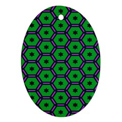 Stars in hexagons pattern Ornament (Oval)