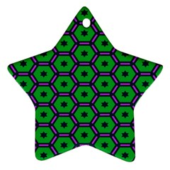 Stars in hexagons pattern Ornament (Star)