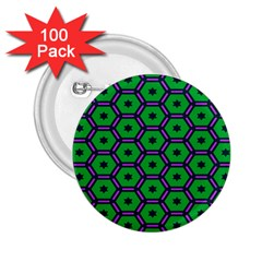 Stars in hexagons pattern 2.25  Button (100 pack)