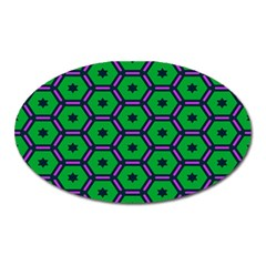 Stars in hexagons pattern Magnet (Oval)