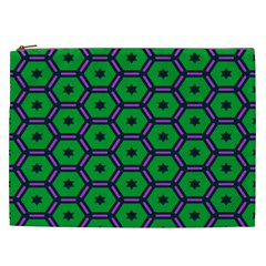 Stars in hexagons pattern Cosmetic Bag (XXL)
