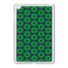 Stars in hexagons pattern Apple iPad Mini Case (White)