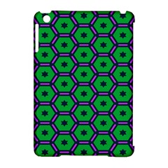 Stars in hexagons pattern Apple iPad Mini Hardshell Case (Compatible with Smart Cover)