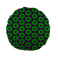 Stars in hexagons pattern Standard 15  Premium Round Cushion