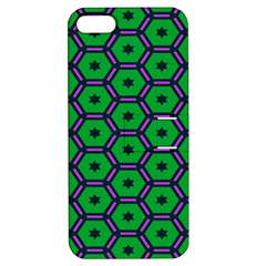 Stars in hexagons pattern Apple iPhone 5 Hardshell Case with Stand