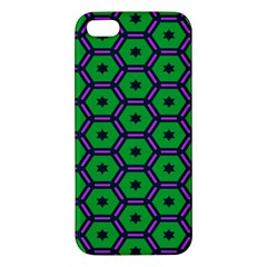 Stars in hexagons pattern Apple iPhone 5 Premium Hardshell Case