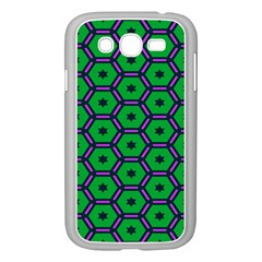Stars in hexagons pattern Samsung Galaxy Grand DUOS I9082 Case (White)