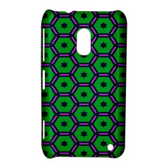 Stars in hexagons pattern Nokia Lumia 620 Hardshell Case