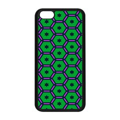Stars In Hexagons Pattern Apple Iphone 5c Seamless Case (black)
