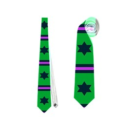 Stars In Hexagons Pattern Necktie