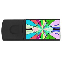 Distorted flower USB Flash Drive Rectangular (1 GB)