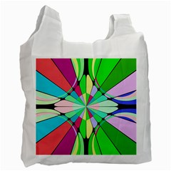 Distorted flower Recycle Bag (One Side)