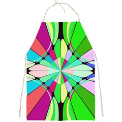 Distorted flower Full Print Apron