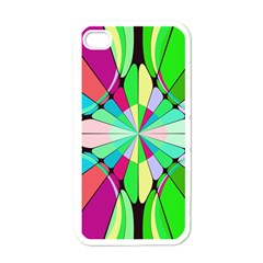 Distorted flower Apple iPhone 4 Case (White)
