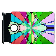 Distorted flower Apple iPad 3/4 Flip 360 Case