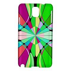Distorted flower Samsung Galaxy Note 3 N9005 Hardshell Case