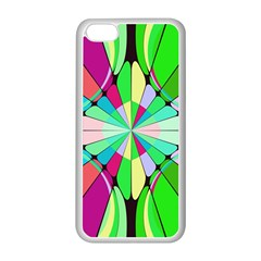 Distorted Flower Apple Iphone 5c Seamless Case (white)