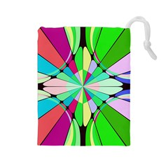 Distorted flower Drawstring Pouch