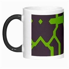 Brown green shapes Morph Mug