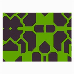 Brown green shapes Large Glasses Cloth (2 Sides)