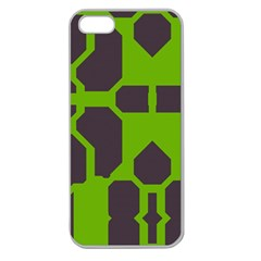 Brown green shapes Apple Seamless iPhone 5 Case (Clear)
