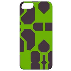 Brown green shapes Apple iPhone 5 Classic Hardshell Case