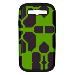 Brown green shapes Samsung Galaxy S III Hardshell Case (PC+Silicone)