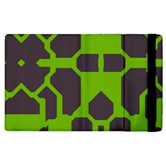 Brown green shapes Apple iPad 2 Flip Case
