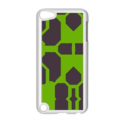 Brown green shapes Apple iPod Touch 5 Case (White)