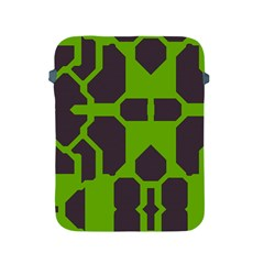 Brown green shapes Apple iPad 2/3/4 Protective Soft Case