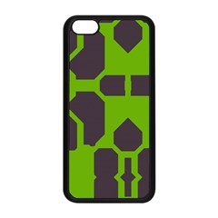 Brown green shapes Apple iPhone 5C Seamless Case (Black)