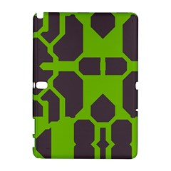 Brown green shapes Samsung Galaxy Note 10.1 (P600) Hardshell Case