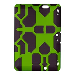 Brown Green Shapes Kindle Fire Hdx 8 9  Hardshell Case