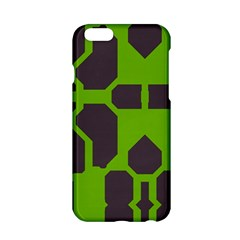 Brown Green Shapes Apple Iphone 6 Hardshell Case