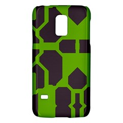 Brown green shapesSamsung Galaxy S5 Mini Hardshell Case