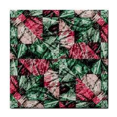 Luxury Grunge Digital Pattern Tile Coasters