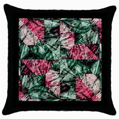 Luxury Grunge Digital Pattern Throw Pillow Cases (Black)