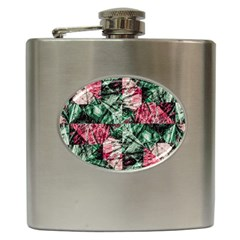 Luxury Grunge Digital Pattern Hip Flask (6 oz)