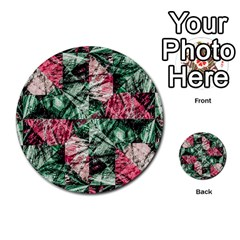 Luxury Grunge Digital Pattern Multi-purpose Cards (Round)