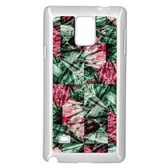 Luxury Grunge Digital Pattern Samsung Galaxy Note 4 Case (White)