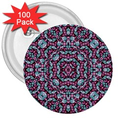 Luxury Grunge Digital Pattern 3  Buttons (100 pack)