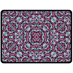 Luxury Grunge Digital Pattern Double Sided Fleece Blanket (large)