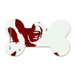 Psycho Dog Tag Bone (One Side)