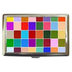 Multi Colour Squares Pattern Cigarette Money Cases