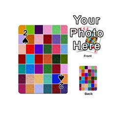 Multi Colour Squares Pattern Playing Cards 54 (mini)