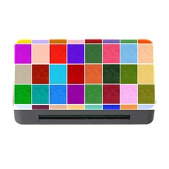 Multi Colour Squares Pattern Memory Card Reader with CF
