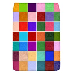 Multi Colour Squares Pattern Flap Covers (l)