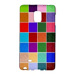 Multi Colour Squares Pattern Galaxy Note Edge