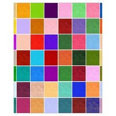 Multi Colour Squares Pattern Drawstring Bag (Small)