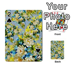Vintage Floral Pattern Playing Cards 54 Designs